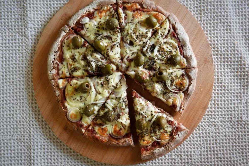 Pizza de trigo sarraceno